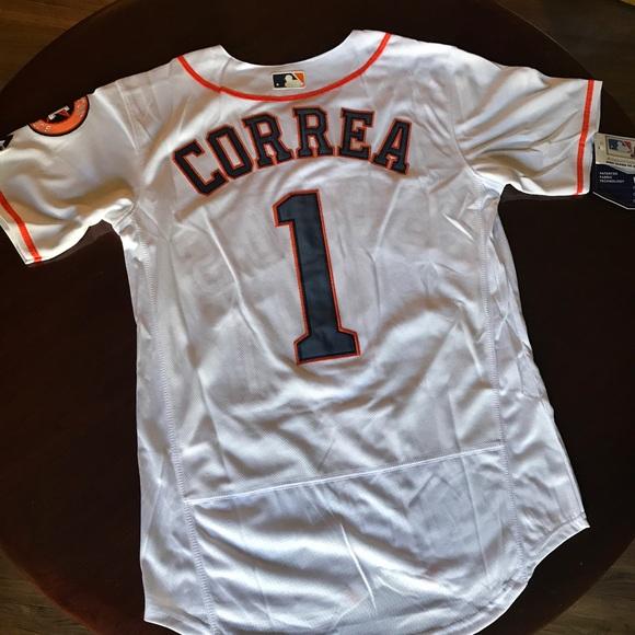 2307c08c9 Houston Astros   1 Carlos Correa New White Jersey